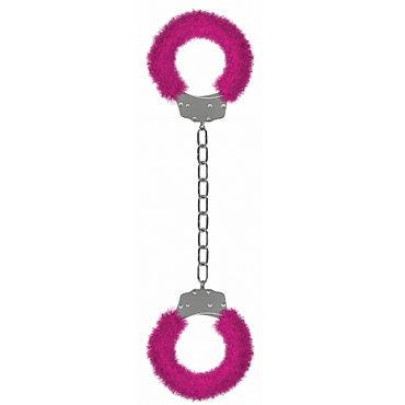 Ouch! Beginner's Legcuffs Furry, розовые Наручники с мехом