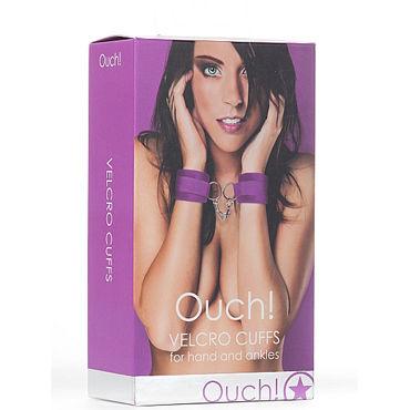 Ouch! Velcro Cuffs, фиолетовый Наручники для рук и лодыжек