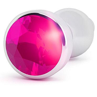 Shots Toys R8 Silver Plug Rose Red Sapphire Анальная пробка с кристаллом