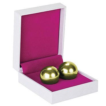 Shots Toys Ben Wa Balls Heavy Weight, золотые Тяжелые вагинальные шарики
