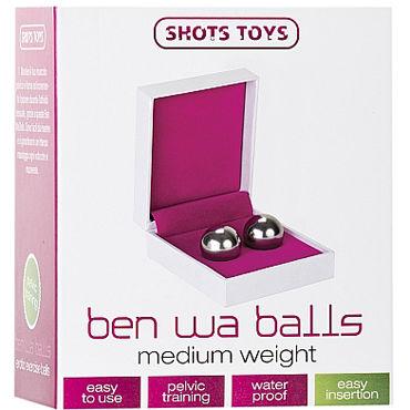 Shots Toys Ben Wa Balls Medium Weight, серебристые Вагинальные шарики средней тяжести
