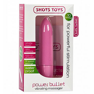Shots Toys Power Bullet, розовая Беззвучная вибропуля