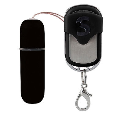 Shots Toys Vibratting Bullet, черная Виброяйцо с дистанционным управлением