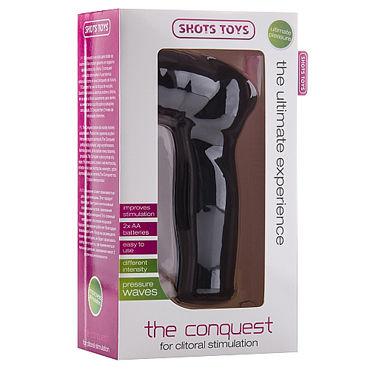 Shots Toys The Conquest, черный Вакуумный стимулятор для клитора