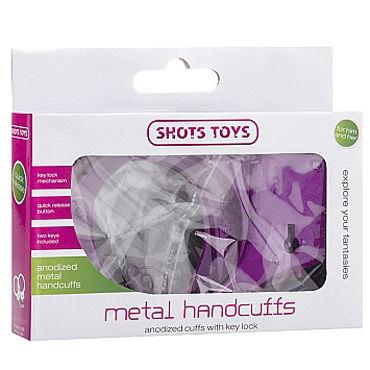 Shots Toys Metal Handcuffs, фиолетовые Металлические наручники