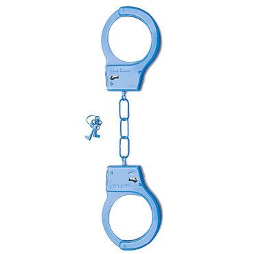 Shots Toys Metal Handcuffs, голубые Металлические наручники