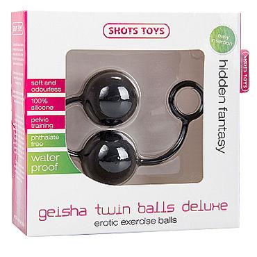 Shots Toys Geisha Twin Balls Deluxe, черные Вагинальные шарики