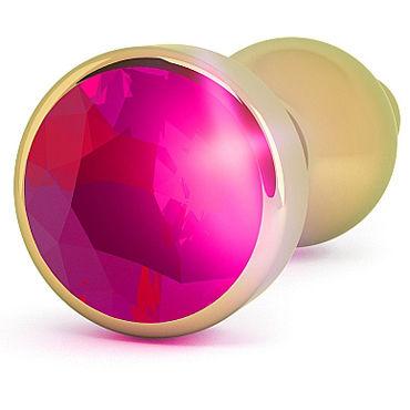 Shots Toys R8 Gold Plug Rose Red Sapphire Анальная пробка с кристаллом