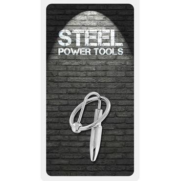 Steel Power Tools Penisplug W Glansring, 28 мм Эрекционное кольцо с катетером