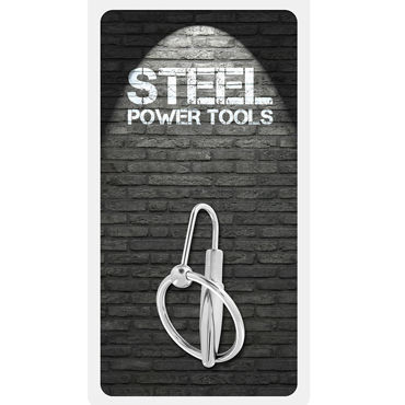 Steel Power Tools Penisplug W Glansring, 30 мм Эрекционное кольцо с катетером