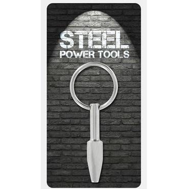 Steel Power Tools Mini Fucker Penisplug, 10 мм Стимулятор уретры с кольцом