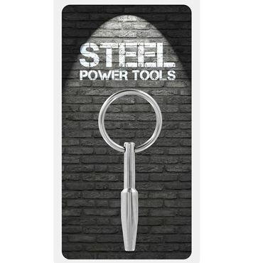 Steel Power Tools Mini Fucker Penisplug, 8 мм Стимулятор уретры с кольцом