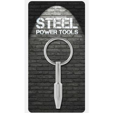 Steel Power Tools Mini Fucker Penisplug, 9 мм Стимулятор уретры с кольцом