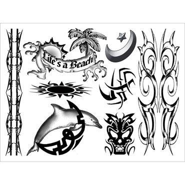 AdultBodyArt For Guys Набор из 24 временных татуировок для парней