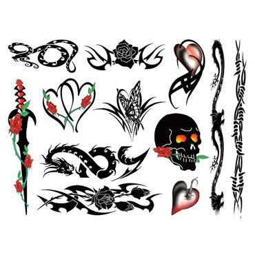 AdultBodyArt Punk Bitch Набор из 40 временных татуировок