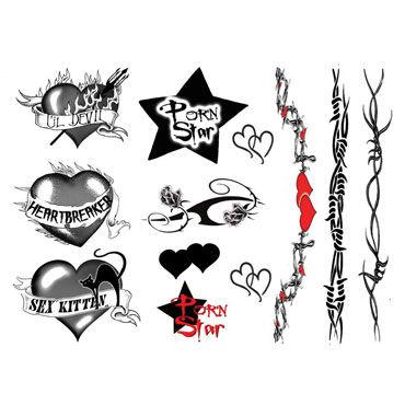 AdultBodyArt Sex Goddes Набор из 38 временных татуировок для девушек