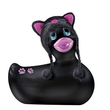 Bigteaze Toys I Rub My Duckie, черный Компактный вибратор-утенок в костюме кошечки