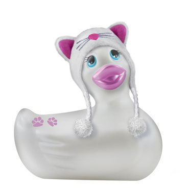 Bigteaze Toys I Rub My Duckie, белый Компактный вибратор-утенок в костюме кошечки