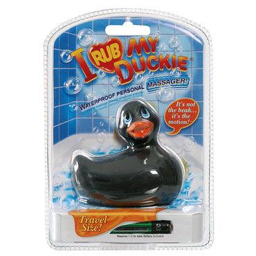 Bigteaze Toys I Rub My Duckie, черный Вибратор в форме утенка компактного размера