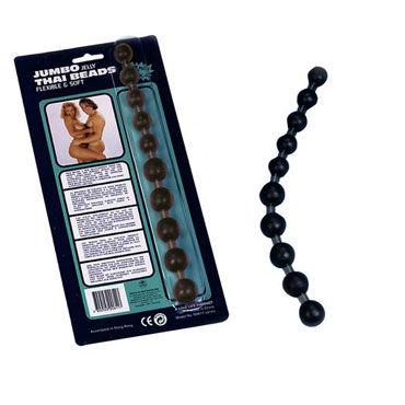 NMC Jumbo Thai Beads, черная Анальная цепочка