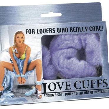 NMC Love Cuffs, фиолетовые Металлические наручники с мехом
