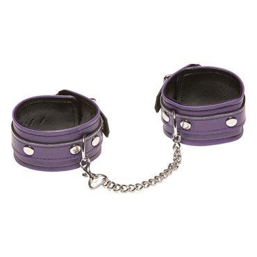 X-Play Love Chain Ankle Cuffs, фиолетовые Кожаные поножи