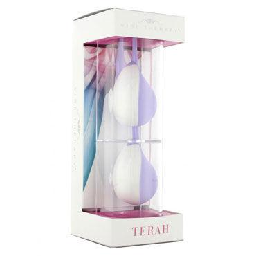 Vibe Therapy Terah, фиолетово-белые Вагинальные шарики с поисковой петлей