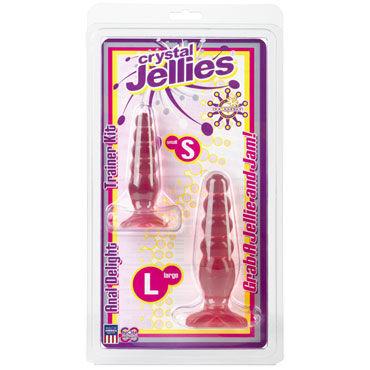 Doc Johnson Crystal Jellies Anal Trainer Kit, розовые Две анальные ёлочки