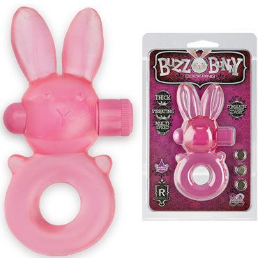 Doc Johnson Buzz Bunny, розовое Эрекционное кольцо с вибропулей