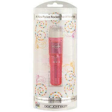 Doc Johnson iVibe Pocket Rocket, розовая Виброракета с текстурной насадкой