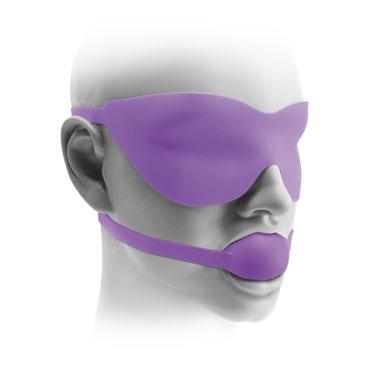 Pipedream Ball Gag And Mask, фиолетовый Маска и кляп