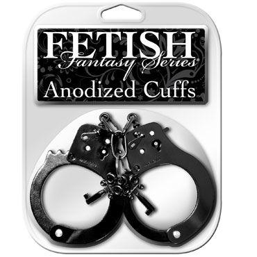 Pipedream Anodized Cuffs, черный Металлические наручники
