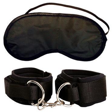Pipedream Heavy Duty Cuffs Мягкие наручники и маска