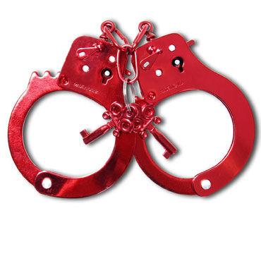 Pipedream Anodized Cuffs, красные Металлические наручники