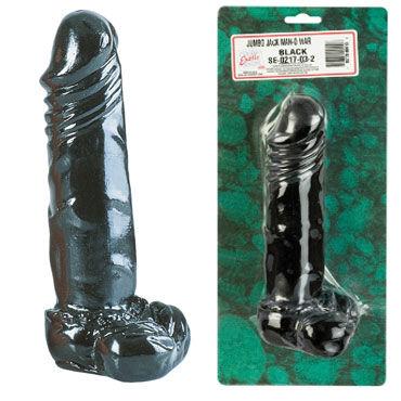 California Exotic Jumbo Jack Man-O-Wars 21 см, черный Реалистичный фаллоимитатор