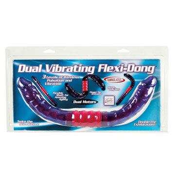 California Exotic Dual Vibrating Flexi-Dong Двухсторонний гибкий вибратор