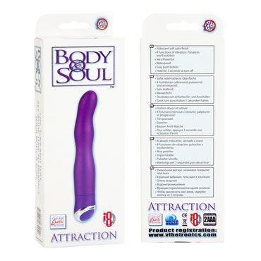 California Exotic Body & Soul Attraction, фиолетовый Вибратор рельефной изогнутой формы