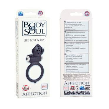 California Exotic Body & Soul Affection, черное Эрекционное кольцо со стимуляцией клитора