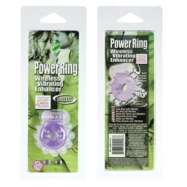 California Exotic Power Ring, фиолетовое Эрекционное виброкольцо