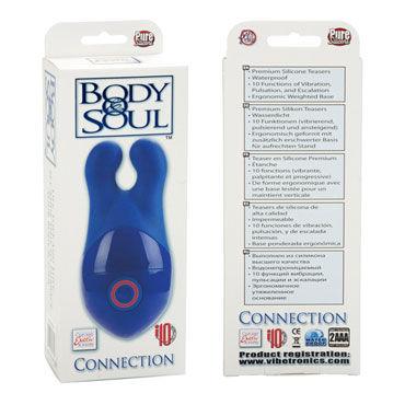 California Exotic Body & Soul Connection, синий Клиторальный вибромассажер