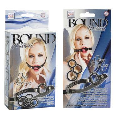 California Exotic Bound By Diamonds Open Ring Gag Расширитель для рта со сменными кольцами