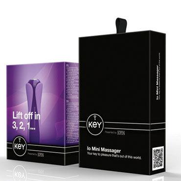 Jopen Key Io Mini Massager, фиолетовый Мини вибратор с двумя насадками
