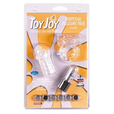 Toy Joy Perpetual Pleasure Pack, прозрачный Насадка и эрекционное кольцо с виброэлементом