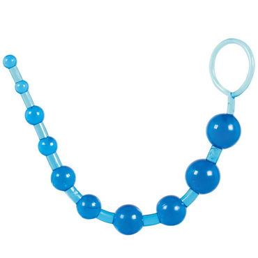 Toy Joy Thai Toy Beads, синий Упругая анальная цепочка