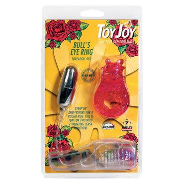 Toy Joy Bull's Eye Ring, красное Эрекционное виброкольцо