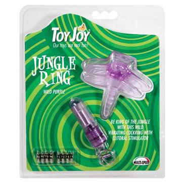 Toy Joy Jungle Ring, фиолетовый Эрекционное кольцо со стимулятором клитора