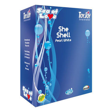 Toy Joy Sea Of Love She Shell Минивибромассажер с выносным пультом управления