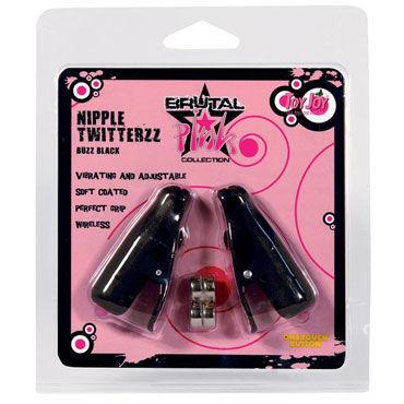 Toy Joy Nipple Twitterz, черные Вибрирующие клипсы на соски