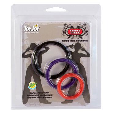 Toy Joy Triple Rings Набор из трех разноцветных колец