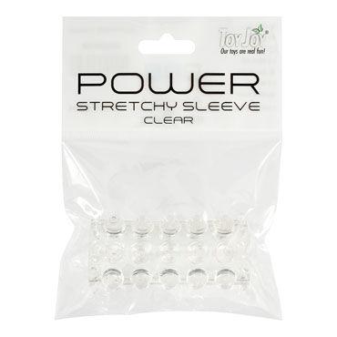 Toy Joy Power Stretchy Sleeve, прозрачная Насадка на пенис